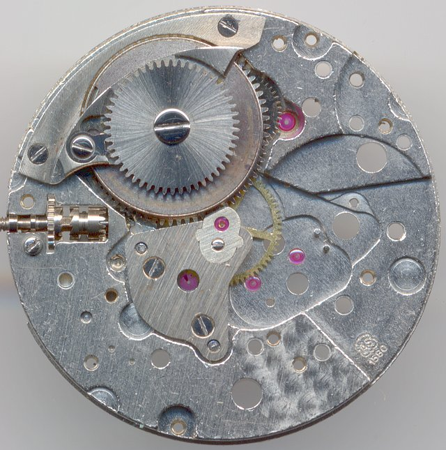main plate with minute wheel and cock