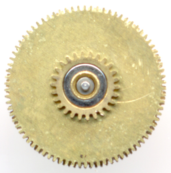 double clutch wheel on the mainspring barrel