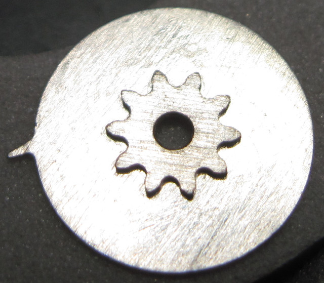 lower side of the single digit date disc