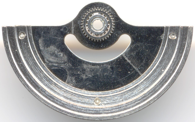 lower side of the oscillating weight