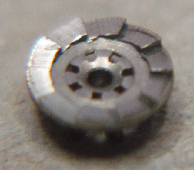 lower part of breguet clutch, connected with the ratchet wheel