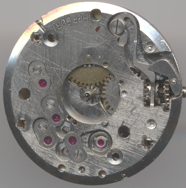 dial side view, without date mechanism