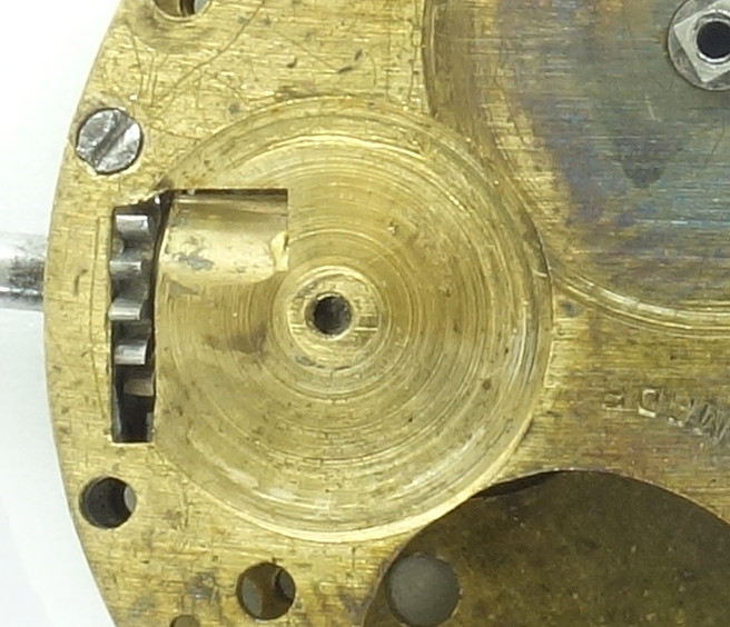 """Bearing"" of the winding wheel"