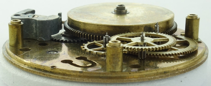 side view of the gear train