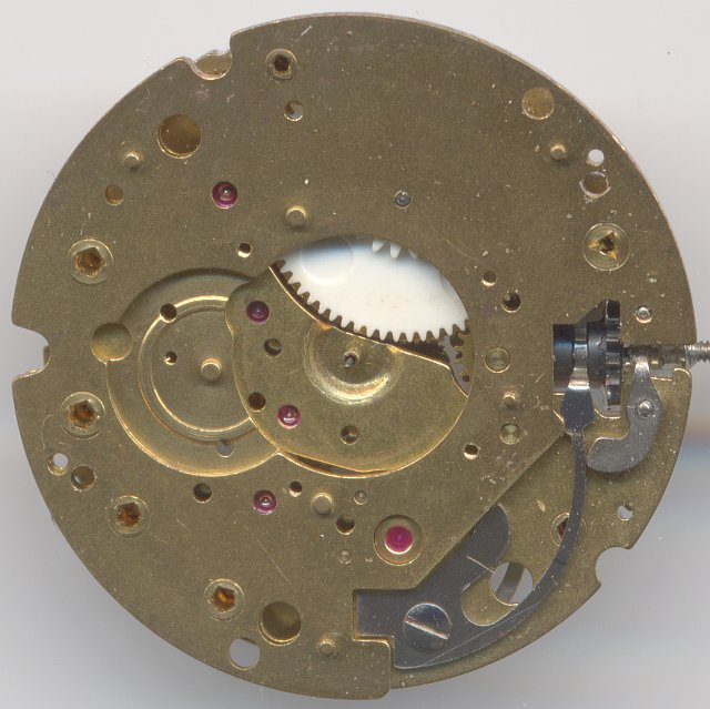 Dial side without date mechanism