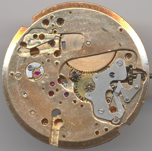 dial side view without date mechanism