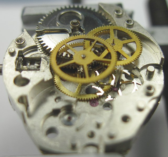 side view of the gears