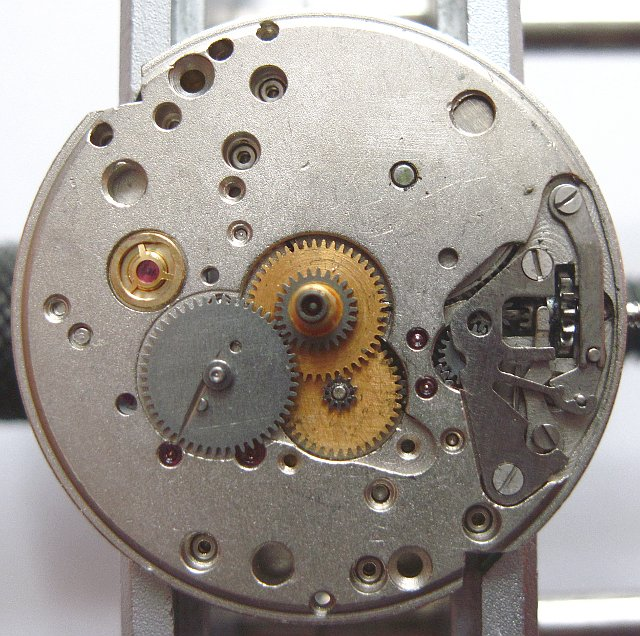 dial side, gears of indication mechanism