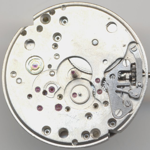 dial side without date indication mechanism