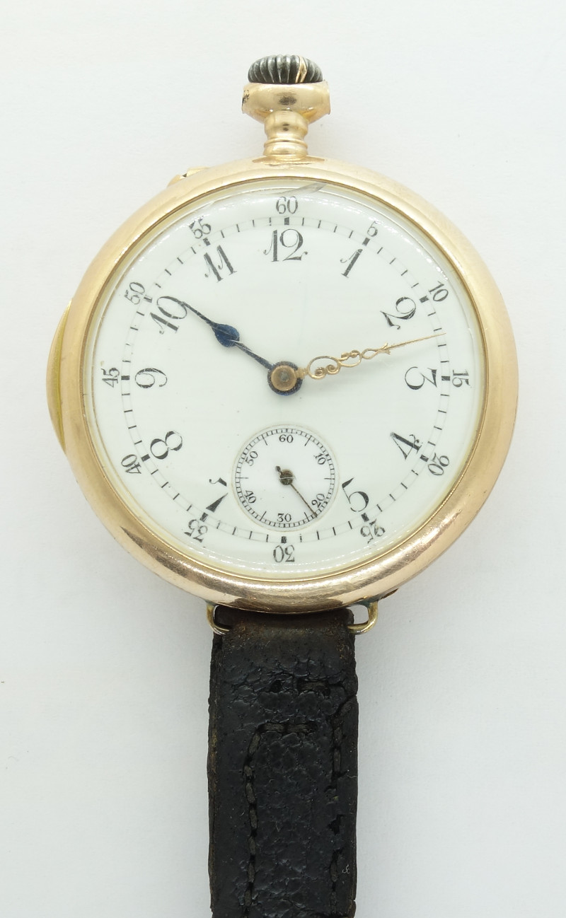 anonymous wristwatch, originally a pocket watch