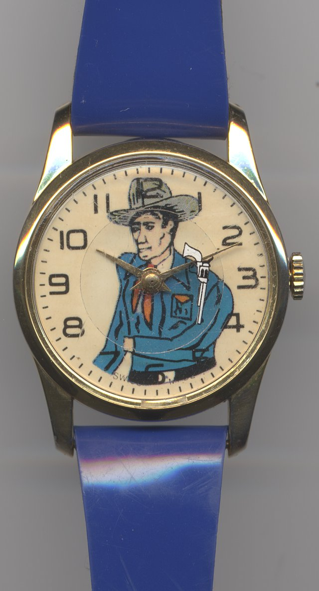 anonyme kids watch with Cowboy motive
