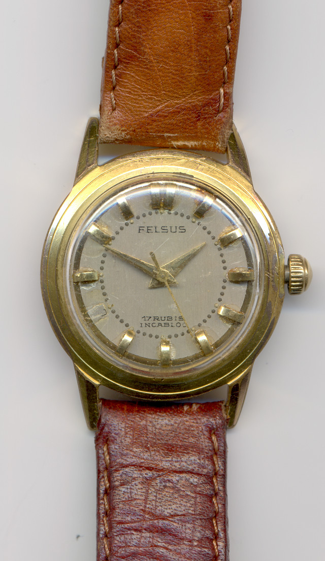 Felsus mens' watch  (with wrong dial inscription)